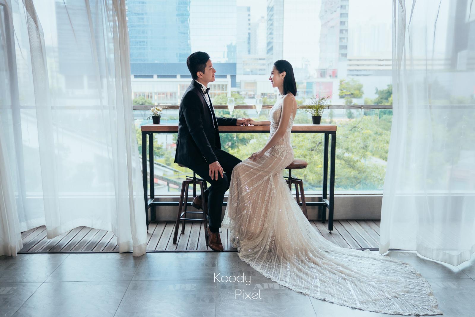 葉子狀的婚紗,非常獨特,不論是Studio Prewedding還是戶外Prewedding也一樣合適