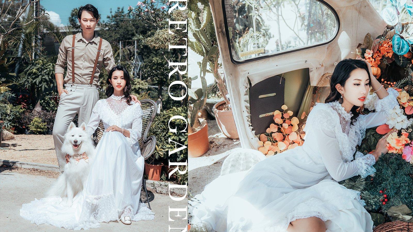 永不過時的唯美復古田園風婚紗攝影~內附寵物攝影三大重點!