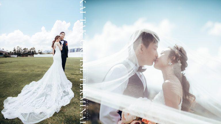 【定義幸褔】|海景、日落應有盡有的九龍秘景!|郵輪碼頭婚禮攝影